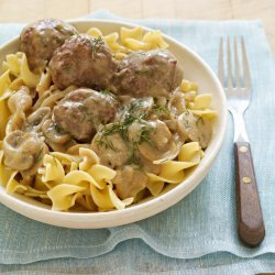 Meatballs With a Creamy  Dill Sauce
