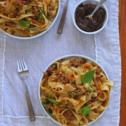 Spicy Thai Noodles With Pork and Mint