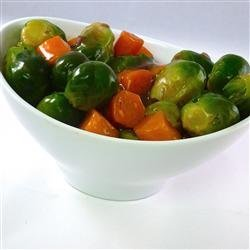 Glazed Carrots and Brussels Sprouts