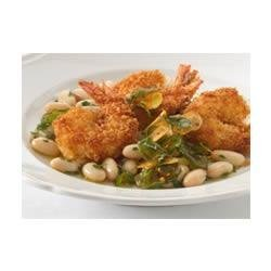 Angry Shrimp with Tuscan White Beans recipe
