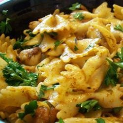 Creole Shrimp and Pasta Meuniere