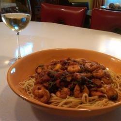 Naked Shrimp Pasta