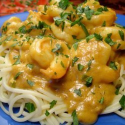 Curried Shrimp in Peanut Sauce