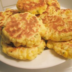 Corn Fritters With Scallions