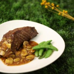 Steak With Mushroom and Red Wine Sauce