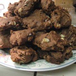 Pumpkin Double Chocolaty Chip Pecan Cookies