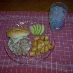 Shredded Adobo Roasted Pork Sandwiches