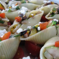 Conchiglioni Stuffed With Vegetables & Goat Milk Feta With B recipe