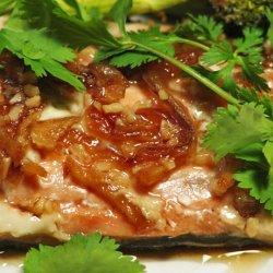 Steamed Salmon Steaks, Thai Style