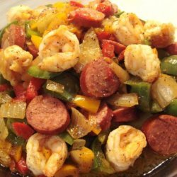 Shrimp and Turkey Sausage Stir-Fry