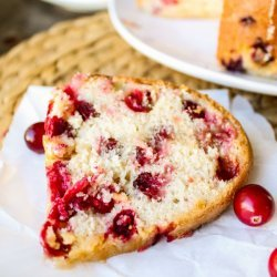 Cranberry Cake With Butter Sauce