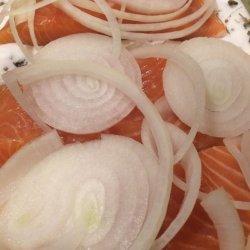 Gravlax Salt-- and Sugar--Cured Salmon