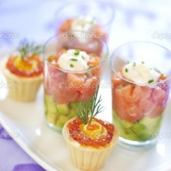 Smoked Salmon or Red Caviar Appetizer