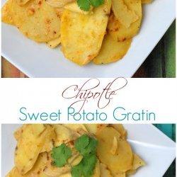 Sweet Potato Gratin With Chipotles