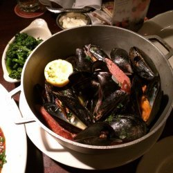 Bay Mussels in White Wine