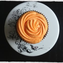 Orange Cream-Frosted Brownies