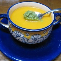 Butternut Squash Soup With Chutney