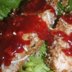Almond Chicken With Savory Plum Sauce