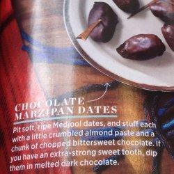 Marzipan Stuffed Dates