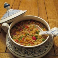 Barley Stew With Saffron and Chickpeas