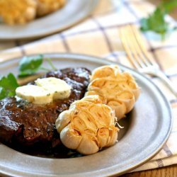 Steaks With Garlic Cilantro Butter