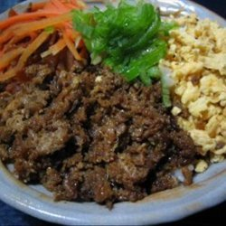 Teriyaki Would-Be Minced Chicken, Torisoboro, Bowl