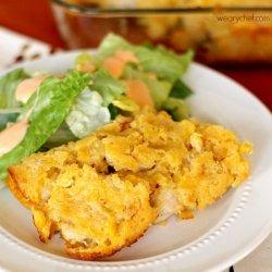 Chicken and Cornbread Casserole