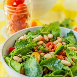 White Bean Tomato Green Bean Salad