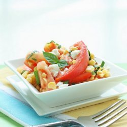 Fresh Corn and Tomato Salad With Cheese