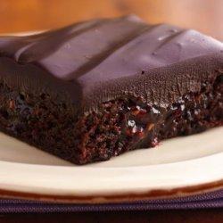 Raspberry-Chipotle Brownies With Chocolate Ganache recipe