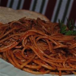 Spaghetti Al Amatraciana recipe