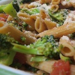 Fusilli with Rapini (Broccoli Rabe), Garlic, and Tomato Wine Sauce