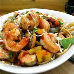 Spaghetti Diablo with Shrimp recipe