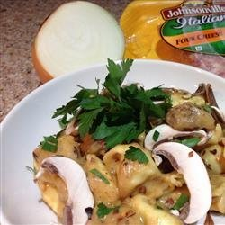 Tortellini and Sausage in Gorgonzola Cream Sauce