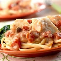 Seafood Tomato Alfredo