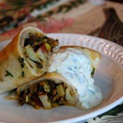 Curried Lentil Burrito