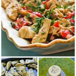 Artichoke & Roasted Red Pepper Salad With Roasted Red Pepper