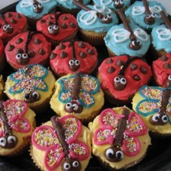 Butterflies, Ladybird and Dragonfly Cupcakes/Fairycakes recipe