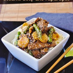 Sesame Beef With Asparagus
