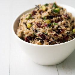 Wild Rice Pilaf With Pistachios and Cranberries