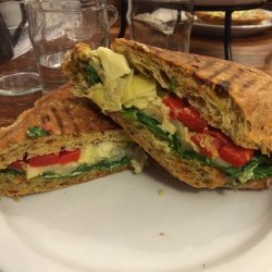 Roasted Red Pepper and Artichoke Panini