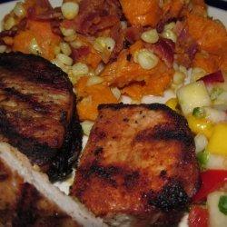 Jerk Pork Chops With Mango Salsa