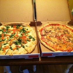 Tomato and Broccoli White Pizza