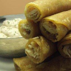 V's Soft Turkey Taquitos With Southwestern Dip recipe