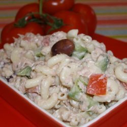 Tuna Mediterranean Pasta Salad