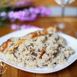 Mushroom Rice Bake