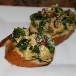 Chicken and Sun-Dried Tomato Bruschetta