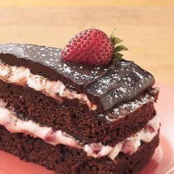Strawberry Fudge Torte