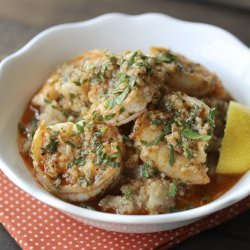 Garlic Shrimp and Grits