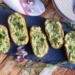 Roasted Garlic Twice Baked Potatoes